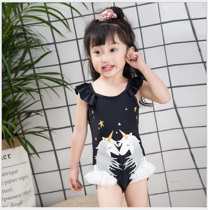 little unicorn swimwear toddler girl Swimwear for party beach clothing a holiday baby 3-6 pcs/lot
