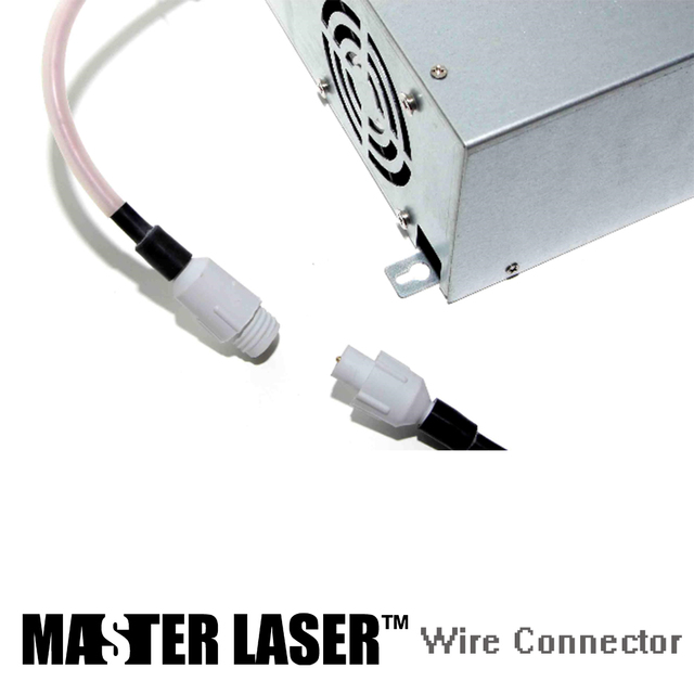 US $5 0  40w 60w 80w 100w150w CO2 Laser Cutting Cutting Machine DIY Part  40kv Laser Power Supply Connect Silica Highvoltage Wire Connect-in Power  Tool