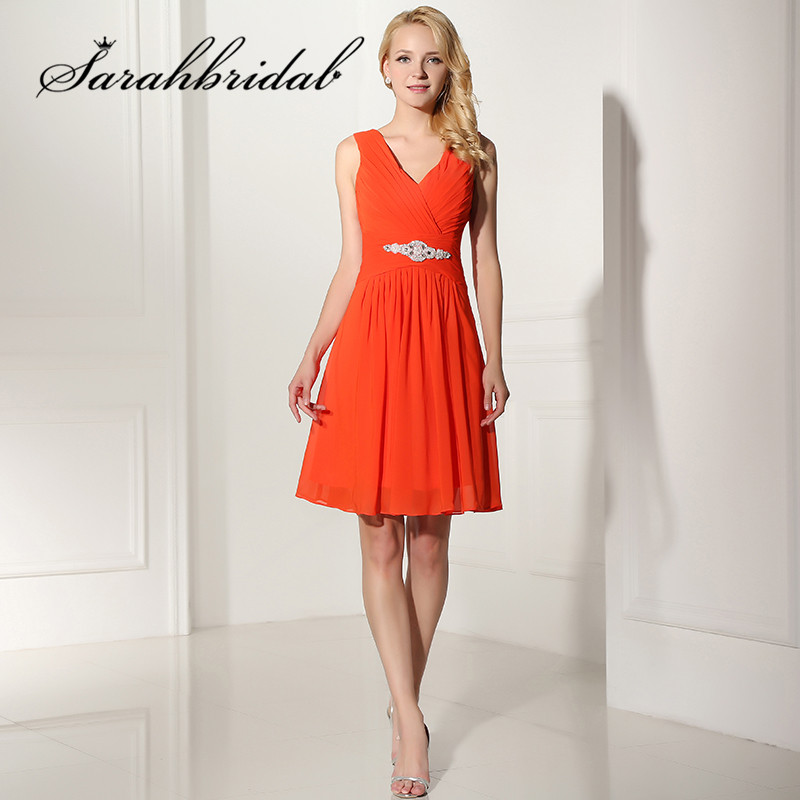 Cheap Sweety Charming   Cocktail     Dresses   with A Line Sweetheart Zipper Sleeveless Knee-Length Chiffon Crystal Pearls   Dresses   SD378