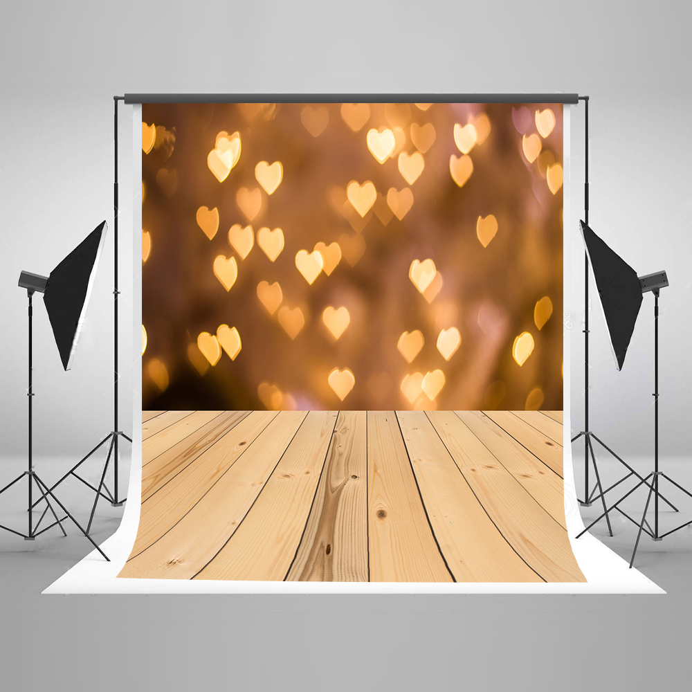 Kate Yellow Valentine'S Day Photography Backgrounds Heart-Shaped Bokeh Wedding Photography Backdrops Washabke Backdrop 8x10ft valentine s day photography pink love heart shape adult portrait backdrop d 7324