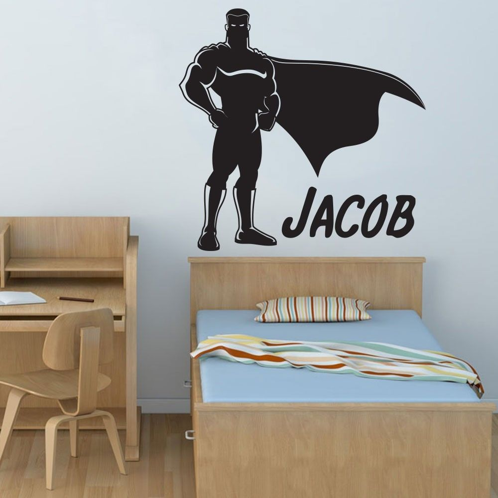 aliexpresscom  buy movable popular boy hero superman art deco  - aliexpresscom  buy movable popular boy hero superman art deco wall decalsvinyl stickers personalized baby nursery mural wall stickers f  fromreliable