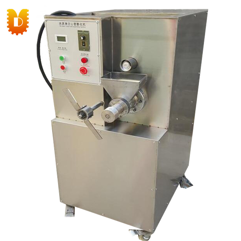 Ice Cream Hollow Tube Snack Food Extruder Bulking Machine Puffing Machine square pan rolled fried ice cream making machine snack machinery