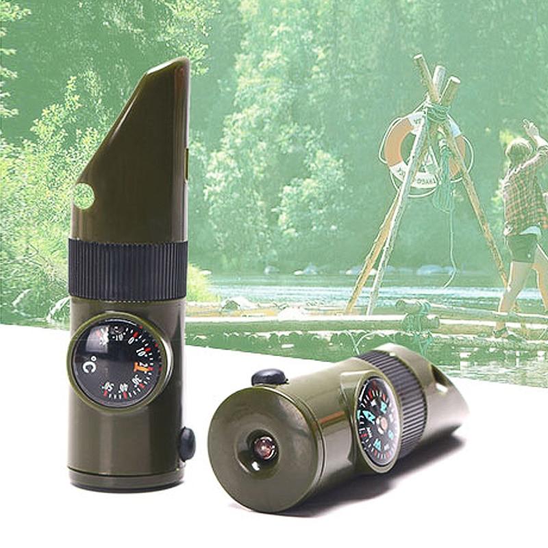 1PCS 7-də 1 Düşərgə Survival fit Kompas Termometr Fənər - Komanda idman növləri - Fotoqrafiya 2