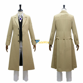 Anime Dazai Osamu Cosplay Bungo Stray Dogs Cosplay Costume Custom Made Any Size anime assassination classroom ansatsu kyoushitsu kaede kayano cosplay costume custom made