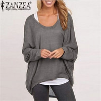2015 Spring Autumn Women Blouse Casual Loose Batwing Long Sleeve Solid Shirt Tops Sweater 9 Colors