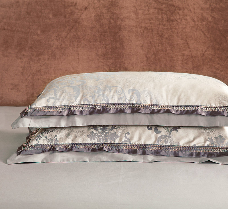 Klassische Oriental Stickerei Jacquard Luxus Bettwäsche set König Königin größe 4/6 Pcs Seide Baumwolle Satin Bett gesetzt Bettdecke abdeckung Bettlaken - 5