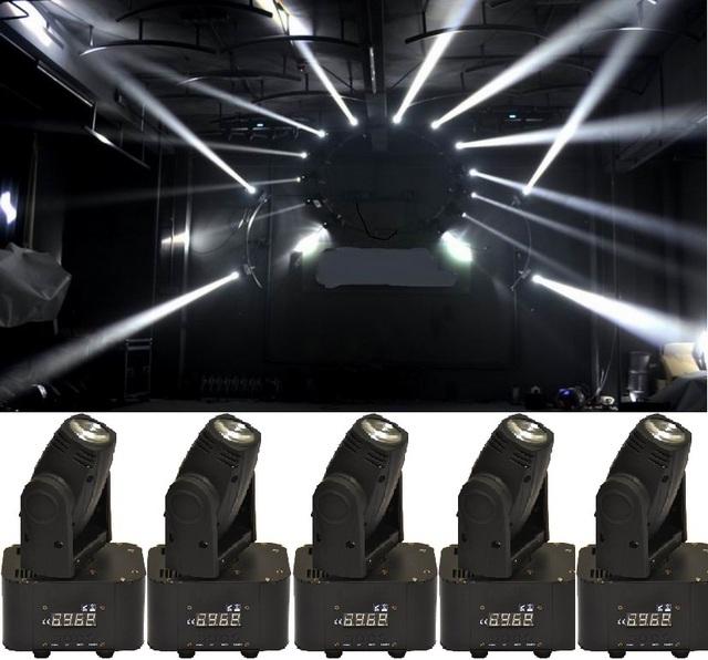 6 xlot free grátis 10 w 4in1 rgbw mini led feixe moving head Wash Luz DMX Som Projetor DJ Disco Club Party Luzes Estroboscópicas