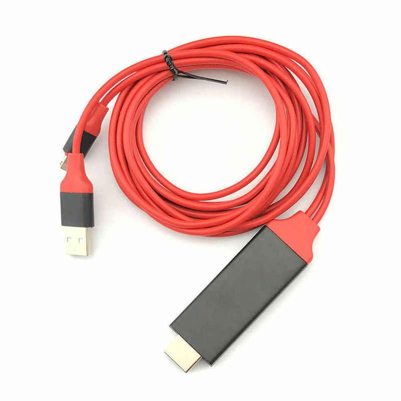 1080P HDMI HDTV Kabel untuk Lightning Digital AV Adaptor untuk iPhone 8 7 6 S 5 S 8 Plus 8 PIN USB untuk HDMI Kabel untuk iPad Mini Udara Pro