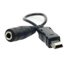 Кабель-адаптер с разъемом «Папа-3,5 мм» Mini USB 5 Pin Male-3,5 мм Female для наушников Aux Audio Adapter Cable