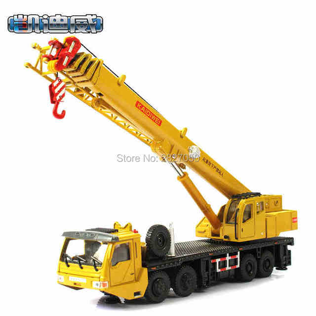 High Quality 1:55 Alloy Sliding Toy Construction Crane Model Educational Toys Truck Vechile For Kids