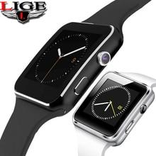 LIGE New Smart Bracelet Men Android Phone Call Relogio SIM TF Card Camera Sport Pedometer Watch Ladies Music Playe