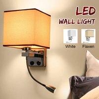 Luminária led de parede retrô ajustável  lâmpada para leitura e estudo  para áreas internas e externas