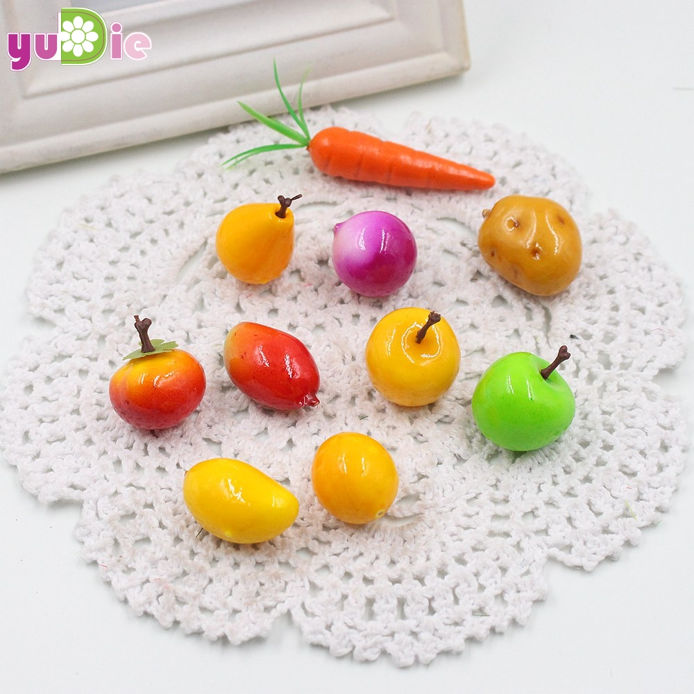 Hot sale20Pcs Mini Simulation Super Small Apples Foam Plastic Fake Artificial Fruit Model House Party Kitchen Wedding Decoration