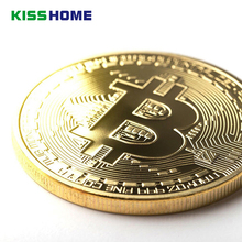 3 pcsGold Plated Physical Bitcoins Casascius Bit Coin BTC with Case Gift Metal Antique Imitation Art Collection