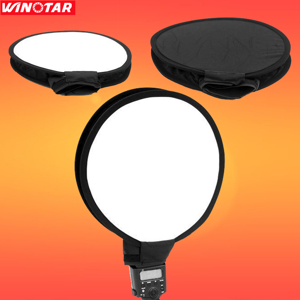 30 cm flash softbox difusor negro/blanco para todos canon nikon sony pentax yongnuo godox pixel jy-680a viltrox flash speedlight