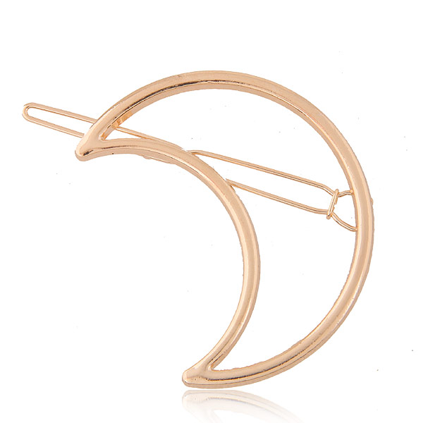 New Woman Hair Accessories Triangle Hair Clip Pin Metal Geometric Alloy Hairband Moon Circle Hairgrip Barrette Girls Holder in Women 39 s Hair Accessories from Apparel Accessories