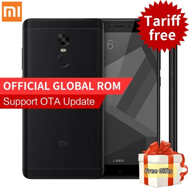 "Original Xiaomi Redmi Note 4X 4 X Smartphone 3GB RAM 32GB ROM Snapdragon 625 Octa Core MIUI 8.1 Fingerprint 5.5"" FHD 4G FDD LTE"