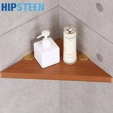 HIPSTEEN Retro Rustproof Wooden Bathroom Corner Storage Rack Commodity Triangular Shelf – Burlywood