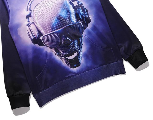 3D SKULL DJ HOODIE