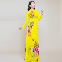 aodai vietnam clothing cheongsam aodai vietnam dress vietnamese traditionally dress long sleeves cheongsam modern plus size