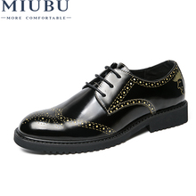 MIUBU Men Lace Up Shoes Luxury Brand Leather Casual Driving Oxfords Shoes Mens Loafers Moccasins Italian Shoe For Males Flats yeinshaars men genuine leather oxfords shoes luxury brand italian style male footwear shoes for men breathable flat lace up shoe