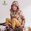KAMIWA 2017 Тигр Шаблон Мальчиков Зимние Куртки И CoatsThicken Вниз Парки Марка Капюшоном Детской Одежды Детская Одежда
