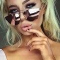 Cat olho espelho moda óculos de sol das mulheres dos homens designer de marca famosa óculos transparentes óculos de sol rosa feminino masculino