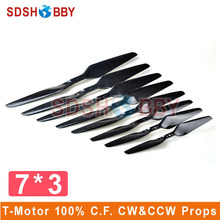 One Pair T Motor 7x3 7030 100 Carbon Fiber Positive Propeller and in Reverse Propellers CW