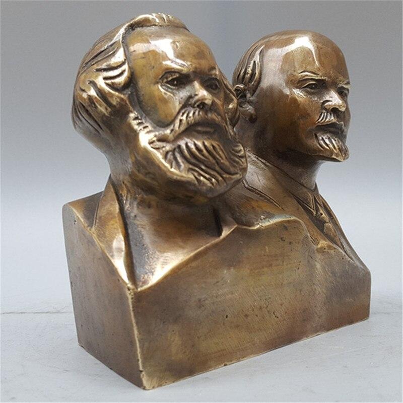 Great Communist Marx And Lenin Bust Bronze Statue Carl Karl Heinrich Marx Bronze Figurines Art Craft Home Decoration L3428