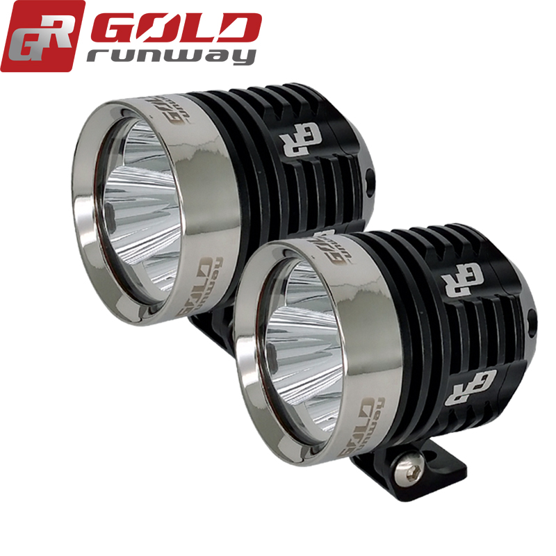 2Pcs GOLDRUNWAY 30IX Motorcycle Lighting U3 3000LM 30W Motorcycle Head Light LED Driving Motorbike Lamp Driving Fog Spot 2pcs h4 30w 3000lm warm white light car head light