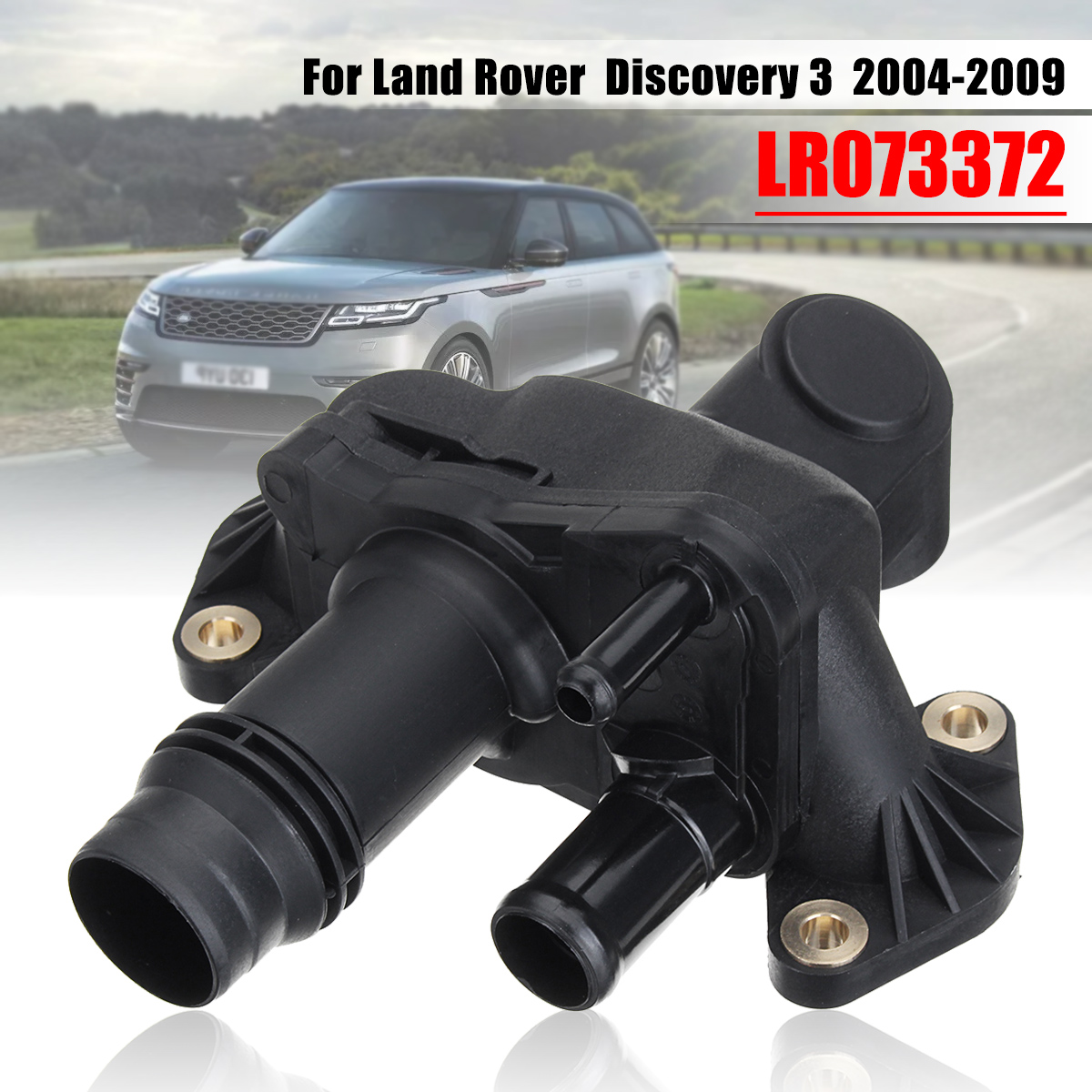 Thermostat New Land Rover Discovery 1999 2004: Auto Cooling System Thermostat Water Outlet Pipe For Land