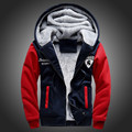 Free shipping Fashion Jacket Men Brand 2016 Winter Casual Slim Men's Hooded Jackets,Patchwork  Mens Coats plus size M52