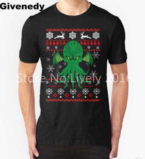 Cthulhu Ugly Christmas Sweater Mens Womens Printing T shirt Comfortable T Shirt