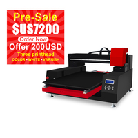 Large Format Automatic LED UV Printer With 3 Print Head 60*90 cm Print Size UV Print Machine for Phone Case, Acrylic, Metal, PVC
