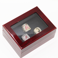 Gorgeous Wooden Boxes With National 2012 Alabama Replica Super Bowl Copper High Quality Championship Rings