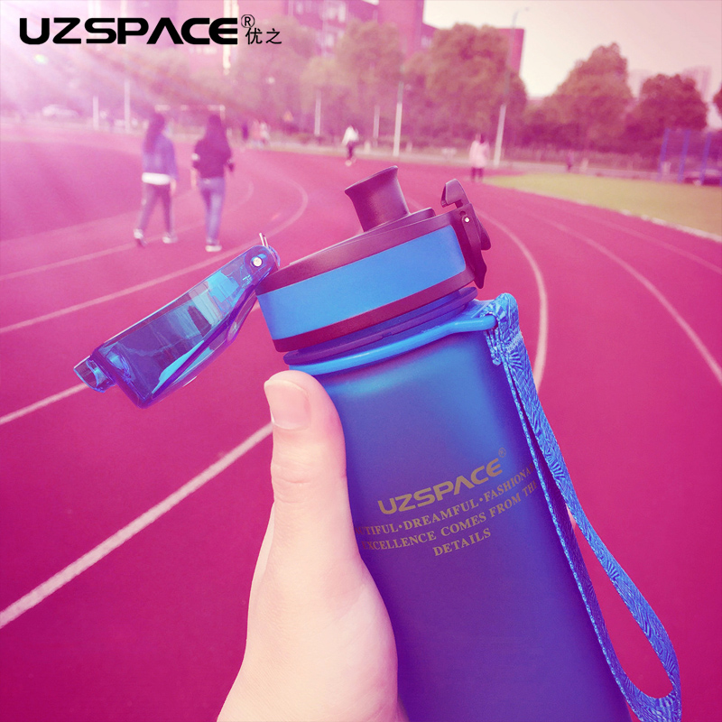 2017 <font><b>New</b></font> Real Protein Uzspace Portable Motion My Tritan Water Bottle Bpa Free <font><b>Plastic</b></font> <font><b>Cup</b></font> <font><b>For</b></font> Sports Camping 350/500/650/1000ml