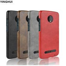 Para Motorola Moto Z3 jugar al teléfono caso de cuero de la PU para Motorola Z3 jugar dual teléfono caso teléfono Z3 jugar cubierta