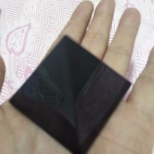 60mm natural obsidian quartz crystal pyramid black feng shui decoration gift