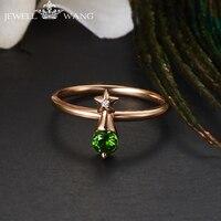 Ювелирные кольца из розового золота 18 K для женщин естественный диопсид обручальное кольцо с драгоценными камнями 18 K розовое золото роскош