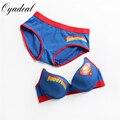 New sexy young girl bra set,Pure cotton material Superman bra,Brand Women underwear,bra brief sets,Intimates