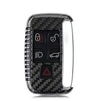 100% Tura Carbon Fiber Samochodów Remote Key Shell Przypadku Ochrony pokrywa Fob Holder dla Range Rover Discovery Freelander dla Jaguara XF