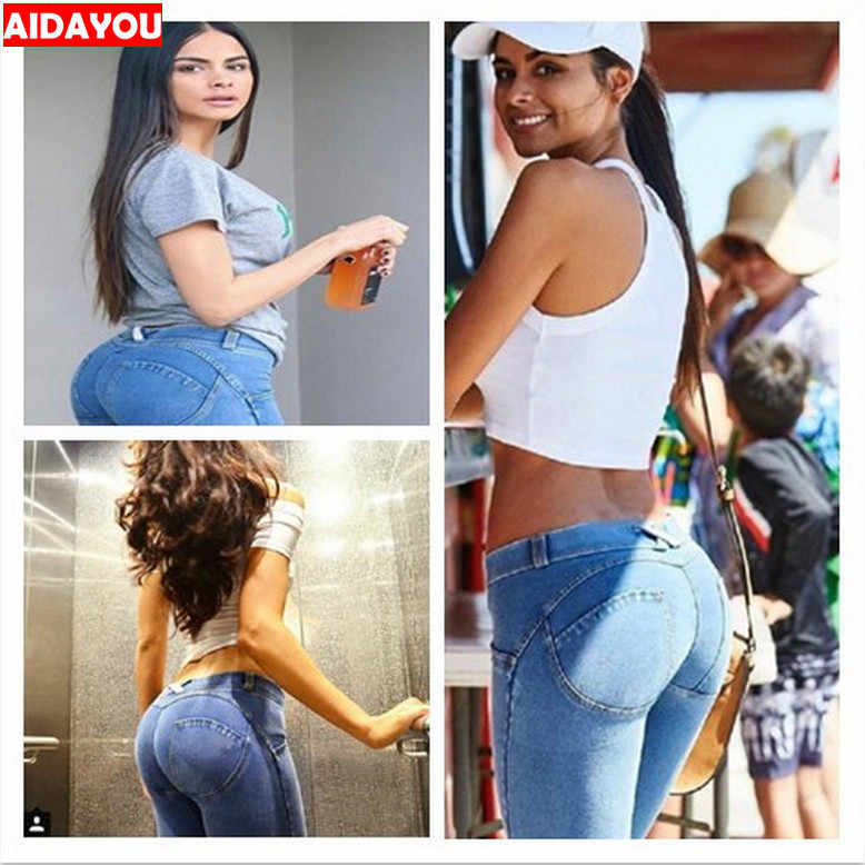 125c089cf13 ... Sexy Jeans Hip Push Up Butt Lifting High Waist Stretchy Plus Size Colombian  Pants Vestido Skinny ...