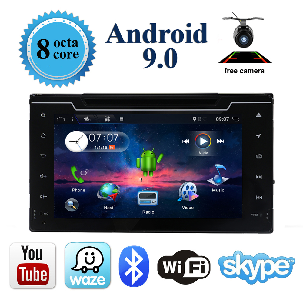 Octa Core Android 9 Car DVD Player for Toyota Corolla Auris Fortuner Estima vios Innova 2016