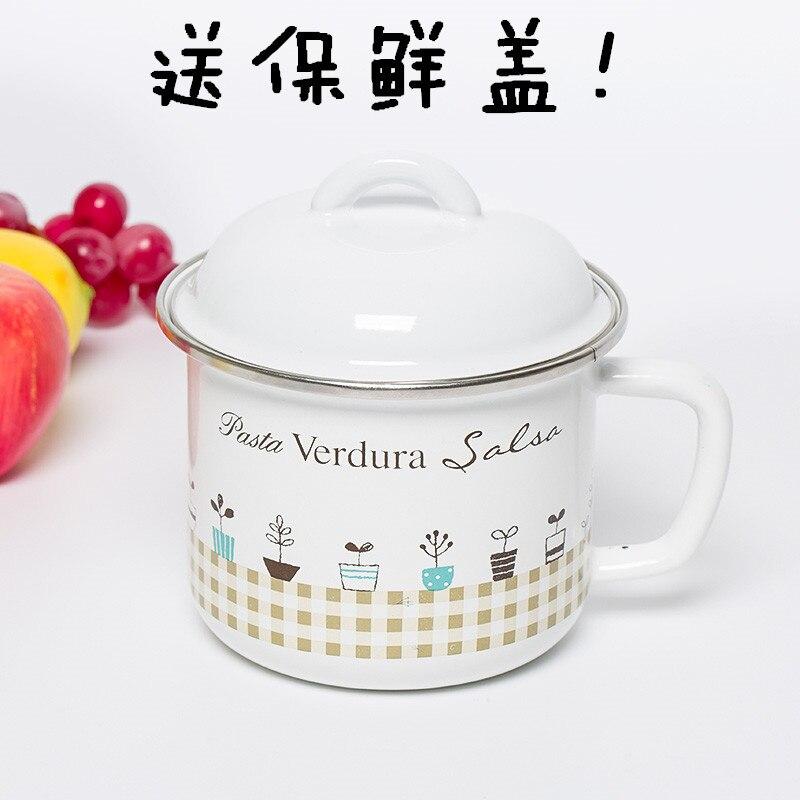14/16 cm émail bol de nouilles instantanées bol bol tasse eau froide pot émail pot paquet mail