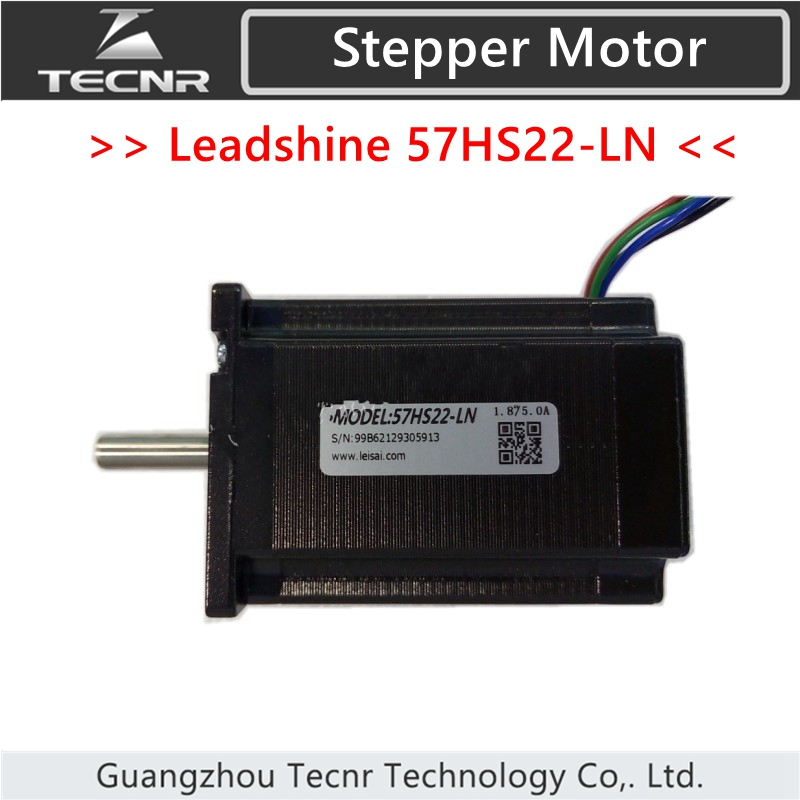 Leadshine 2 phase Stepper Motor 57HS22-LN NEMA23 with 2.2Nm torque 5A shaft length is 30mm free shipping genuine leadshine 110hs28 phase nema 42 hybrid stepper motor with 28 n m 6 5 a length 201 mm shaft 19 mm