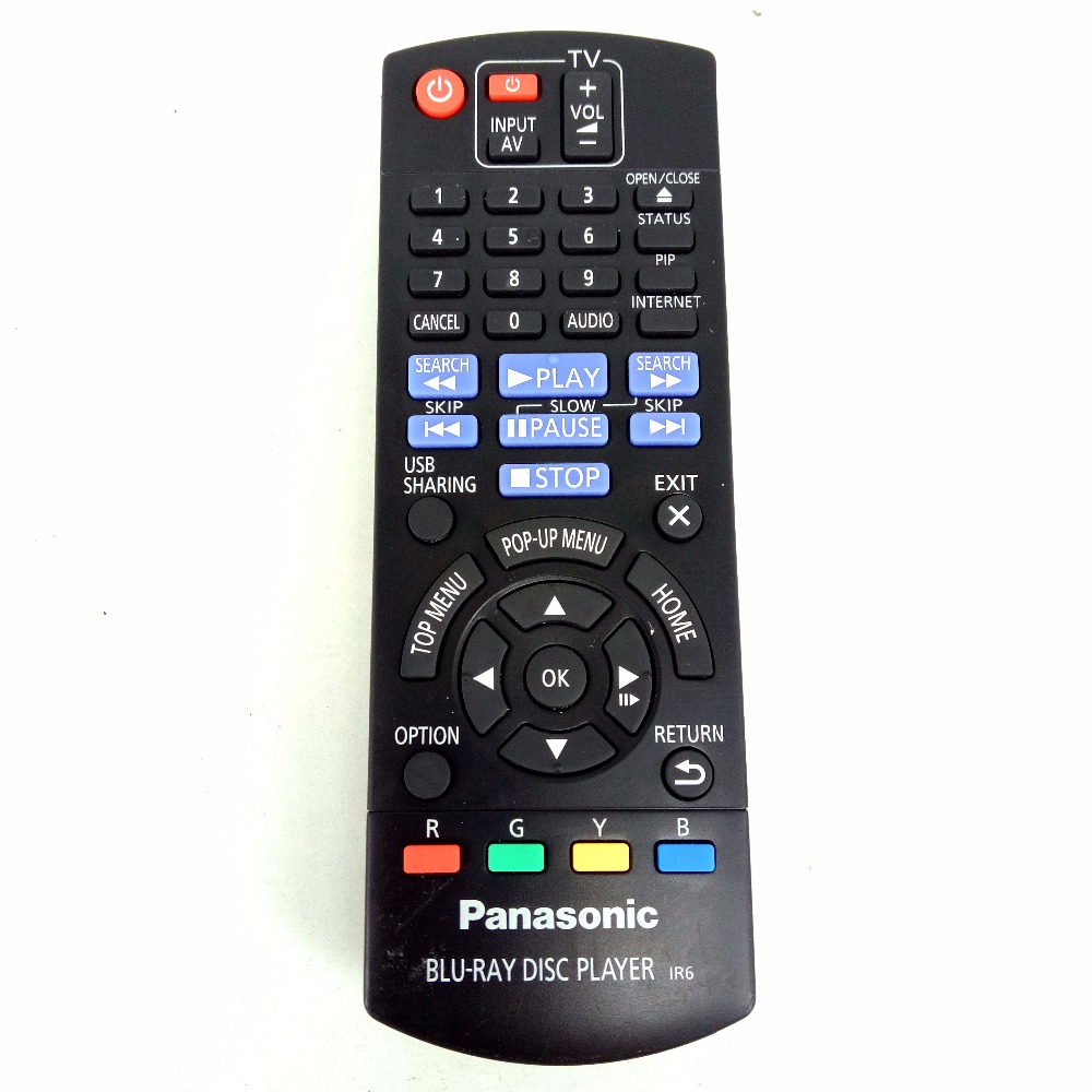 Used Original Replacement for Panasonic Blu-ray disc player Remote control N2QAYB000958 FOR DMP-BD84 DMP-BDT180 Fernbedienung new remote control for lg blu ray dvd disc player remote control akb73615801 for bp220 bp320 bp125 bp200 bp325w