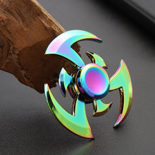 Fidget Hand Spinner Zinc Alloy Metal Rainbow Spiner Anti-Anxiety Toy for Spinners Focus Relieves Stress Adhd Finger Spinner E(China)