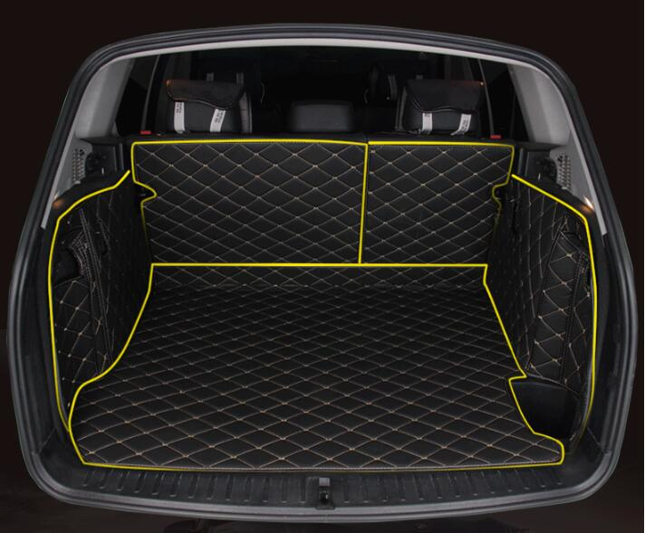 JIOYNG Full Rear Trunk Tray Liner Cargo Mat Floor Protector foot pad mats for BMW X3 F25 2011 2012 2013 2014 2015 2016 (5colors)