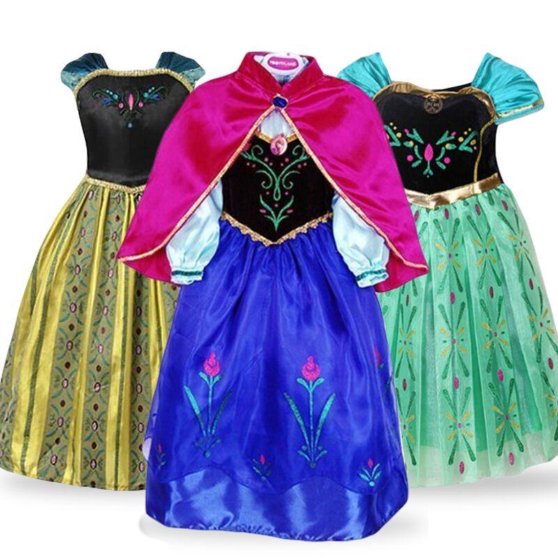 Filles Moana Costume Kids Disney Princess Déguisement Conte De Fées sous licence Dressup