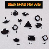 Free Shipping Quality Promise 100pcs Black Nail Art Rhinestones 3D Nails Decorations New Arrive Nail Stones Crystal for Nails